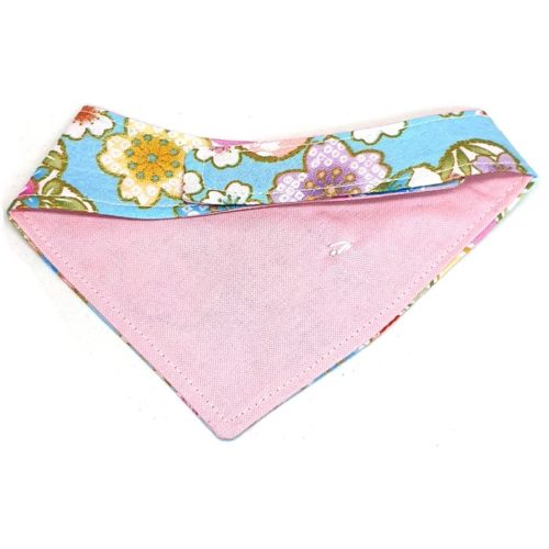 Spring Sakura In Blue – Bandana for cats and dogs (2 sizes)