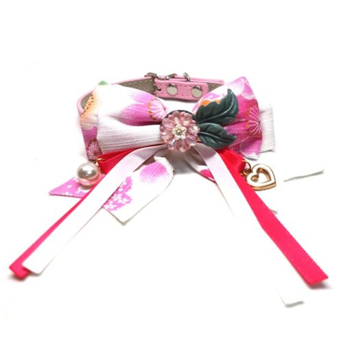 Sakura Ribbon Bow Collar