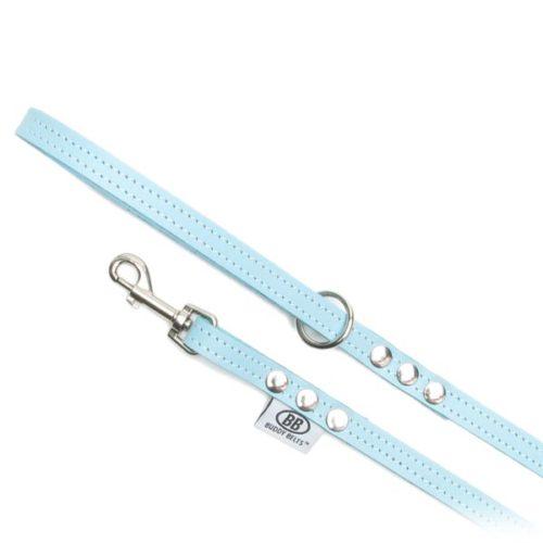 Buddy Belts Premium Leather Leash (Blue)