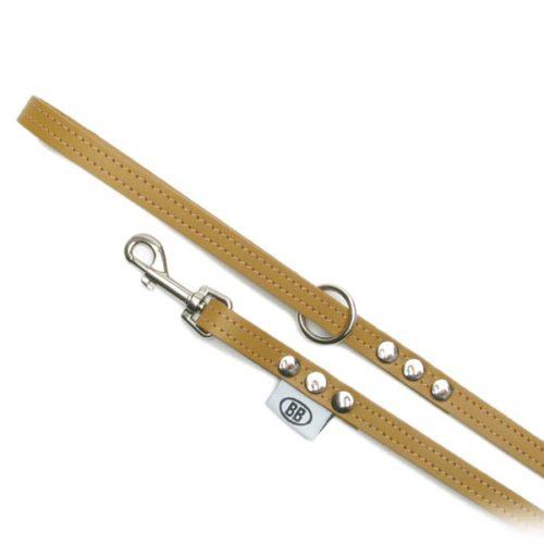 Buddy Belts Premium Leather Leash (Caramel)