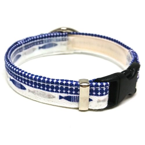 Gone Fishin' collar for cats and small dogs