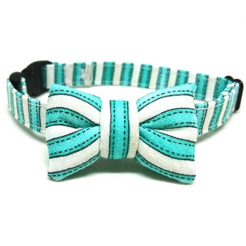 Peppermint collar with bowtie for cats and small dogs