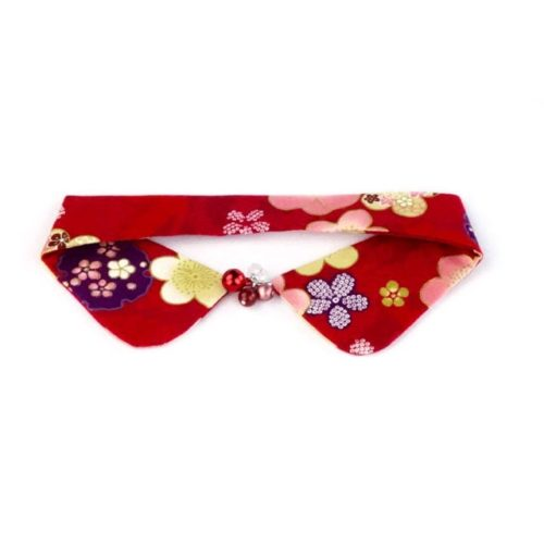 Floating Sakuras Decorative Collar (Red)