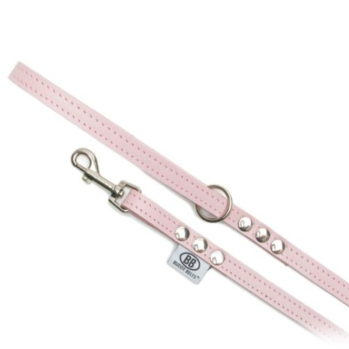 Buddy Belts Premium Leather Leash (Pink)