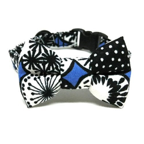 Ulysses collar with bowtie for cats and small dogs
