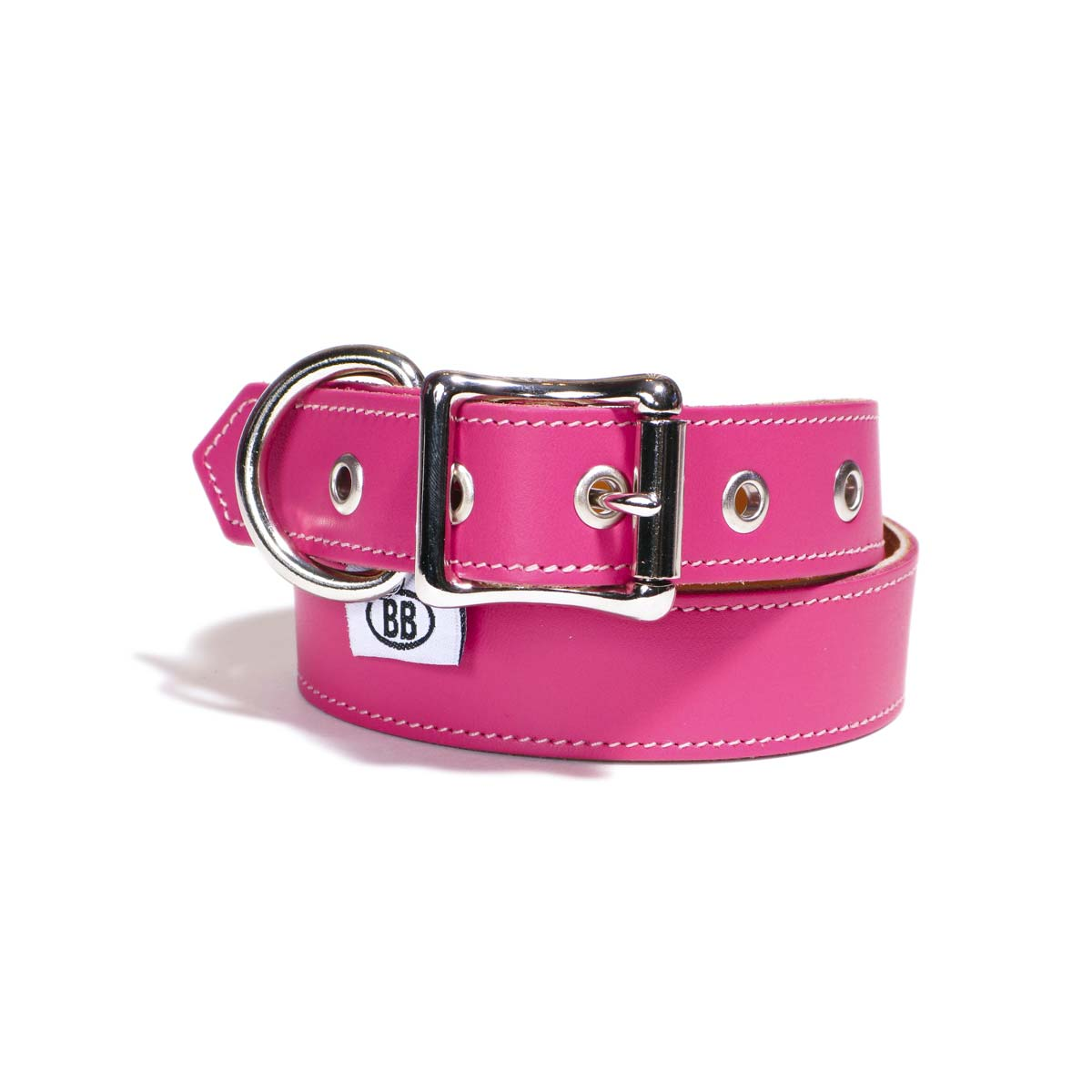 Buddy Belts Premium ID Collars (Hot Pink)