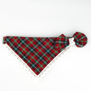 Plaid & Lace – Bandana for cats & small dogs